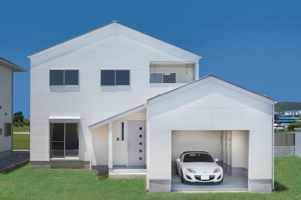 趣味と暮らすガレージのある家