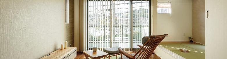 瀬田川を望む2階リビングの家